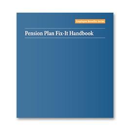 Pension Plan Fix-It Handbook