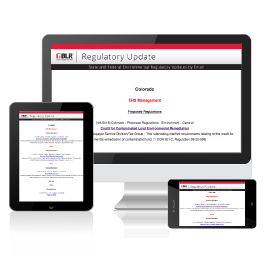 RegUpdate.BLR.com - Environmental Regulation Notification Service