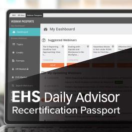 EHS Daily Advisor Recertification Passport
