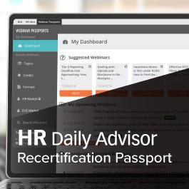 HR Daily Advisor Recertification Passport
