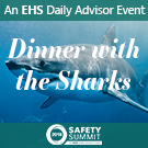 Dinner with the Sharks event